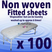 Disposable non woven fitted sheet covers,100 Pack