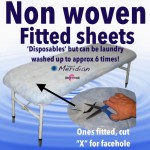 Disposable non woven fitted sheet covers, 10 Pack