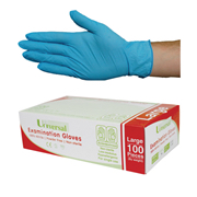 Nitrile Examination Gloves, AS/NZ, Powder Free, Blue Colour, 100 per Box