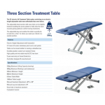Power Lift Southern Cross Treatment Table - 3 Section