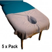 Terry Towelling face hole cover 5 Pack