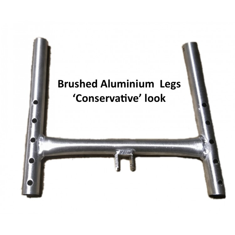 Brushed aluminium legs
