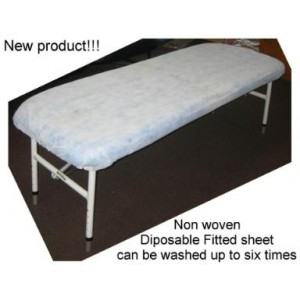 Disposable non woven fitted sheet covers - 100 Pack