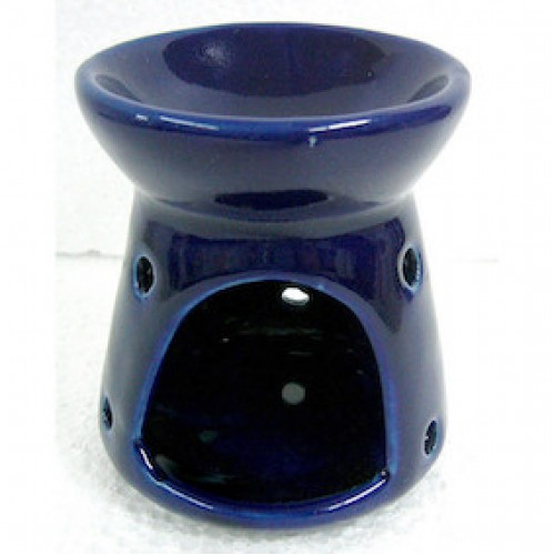 Ceramic Oil Burner Small Blue 9cm high
