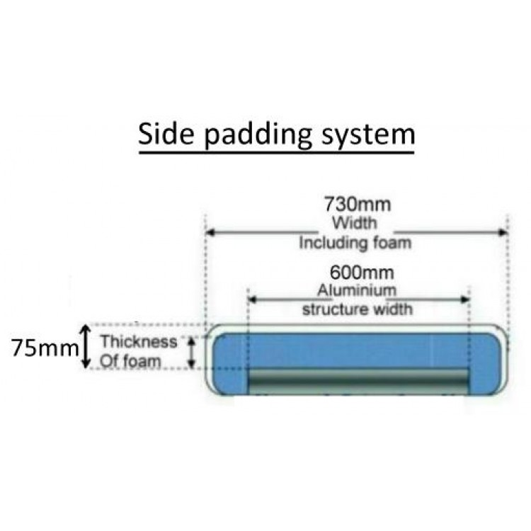Power Lift Face hole style - Side padding system - 1 section