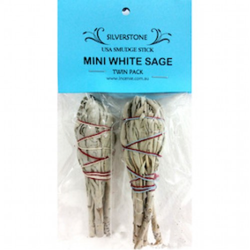 White Sage - Smudge Stick Mini Twin Pack USA