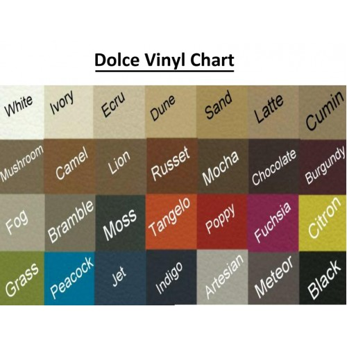 Upholstery Options - Dolce (Non Stock Colours)