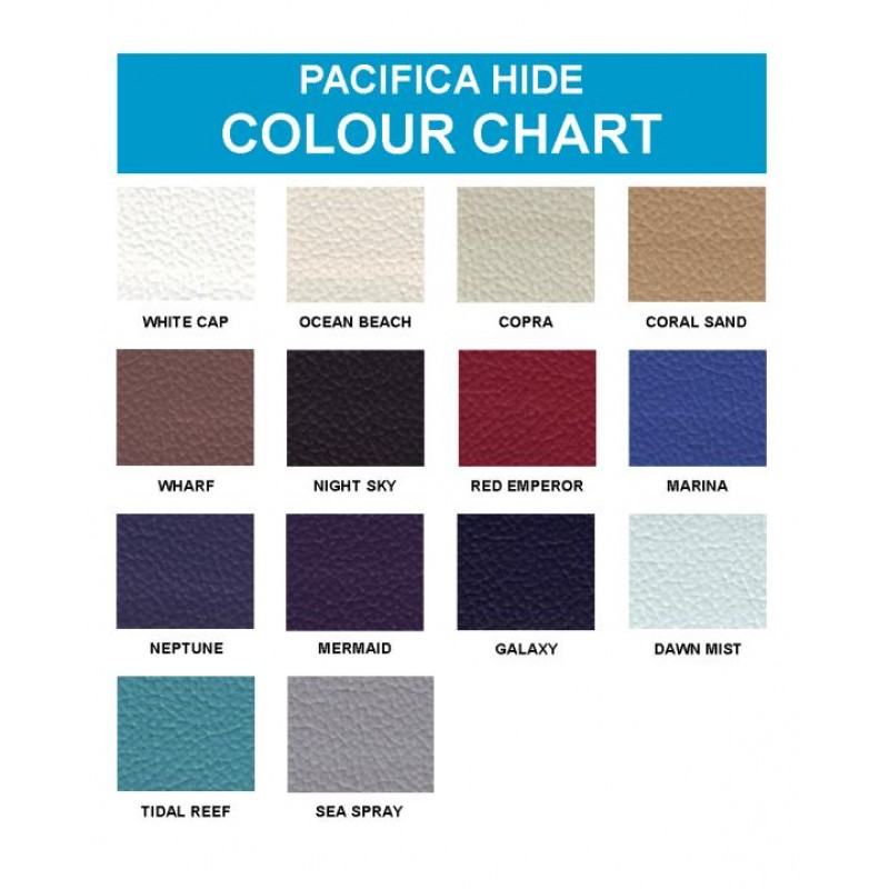 Upholstery Options - Pacifica (Non Stock Colours)